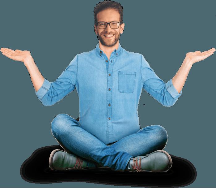 homme yoga fondis cheminée hybride